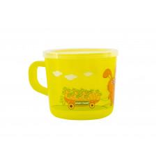 Чашка детская (прозрачная) Baby team, 200 мл, 10+, арт. 6007 (зеленая)
