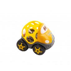 """Игрушка-погремушка """"Машинка"""", в ассортименте Baby team, 6+, арт. 8406 (желтый кузов)"""