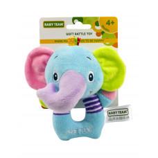 Игрушка-погремушка мягкая, в ассортименте Baby team, 4+ арт. 8501 (слоник)