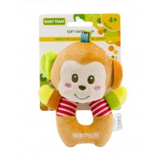 Игрушка-погремушка мягкая, в ассортименте Baby team, 4+ арт. 8501 (обезьянка)