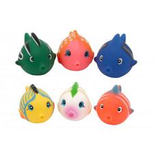 """Набор игрушек для ванны """"Разноцветные рыбки""""  Baby team, 10+, арт. 9006 (УЦЕНКА)"""
