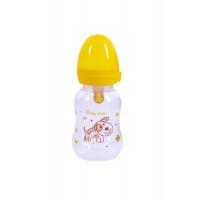Бутылочка для кормления с латексной соской Baby team, 125 мл, 0+, арт. 1300 (желтая)