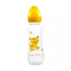 Бутылочка для кормления с латексной соской Baby team, 250 мл, 0+, арт. 1310 (Желтая)