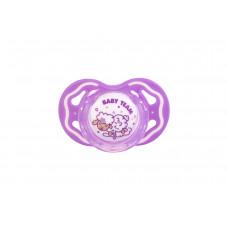 Пустышка силиконовая ортодонтическая Baby team, 6+, арт. 3011 (фиолетовая)