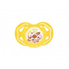 Пустышка силиконовая ортодонтическая Baby team, 6+, арт. 3011 (желтая)