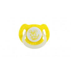 Пустышка латексная вишнеподобной формы со светящимся кольцом Baby team, 6+, арт. 3225