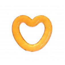Прорезыватель с гелем Baby team, 4+, арт. 4005 (оранжевое сердечко)