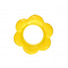 Прорезыватель с гелем Baby team, 4+, арт. 4005 (желтый цветочек)