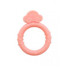 """Прорезыватель силиконовый """"Кольцо"""" Baby team, 4+, арт. 4009 (розовый)"""
