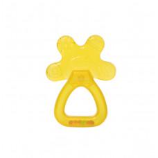 Прорезователь-погремушка с водой Baby team, 4+, арт. 4036 (желтый)