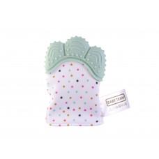 Прорезователь-рукавичка Baby team, 3+, арт. 4090 (бирюзовая)