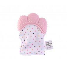 Прорезователь-рукавичка Baby team, 3+, арт.  4090 (розовая)