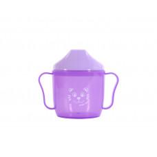Поильник со спаутом Baby team, 180мл, 6+, арт. 5007 (фиолетовый)