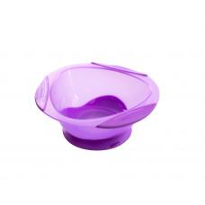 Тарелка на присоске Baby team, 280 мл, 6+, арт. 6004 (фиолетовая)