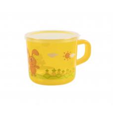 Чашка детская (прозрачная) Baby team, 200 мл, 10+, арт. 6007 (желтая)