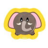 Тарелочка детская «Любимые зверята» Baby team, 300 мл, 6+, арт. 6012 (слоник желтый)