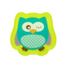 Тарелочка детская «Любимые зверята» Baby team, 300 мл, 6+, арт. 6012 (совенок зеленый)
