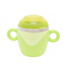 Чашка с крышкой и ручками, из нержавеющей стали Baby team, 240 мл, 10+, арт. 6091