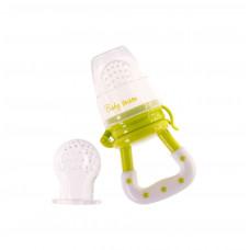 ФРУТ ФИДЕР силиконовый (+ дополнительный силиконовый контейнер) Baby team, 6+, арт. 6202 (зеленый)