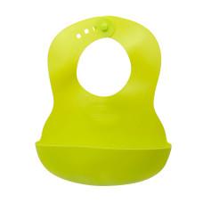 Нагрудник Baby team, 6+, арт. 6500 (зелений)