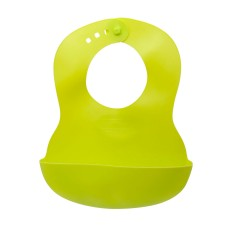 Нагрудник Baby team, 6+, арт. 6500 (зеленый)
