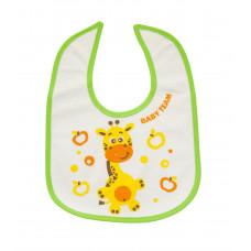 Нагрудник на липучке Baby team, 4+, арт. 6502 (жирафчик)
