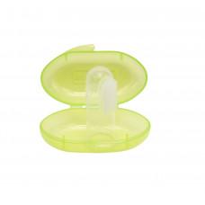 Зубная щетка-массажер силиконовая, с контейнером Baby team, 4+, арт. 7200 (зеленый)