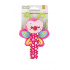 Игрушка с пищалкой Baby team, 4+, арт. 8500 (Бабочка)