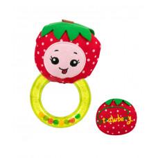 Игрушка-погремушка с кольцом Baby team, 4+, арт. 8506 (Клубничка)