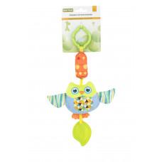 Игрушка-подвеска с прорезователем Baby team, 4+, арт. 8520 (Сова)