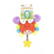 Мягкая многофункциональная игрушка-прорезыватель Baby team, 4+, арт. 8533 (краб)