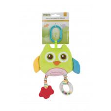 Мягкая многофункциональная игрушка-прорезыватель Baby team, 4+, арт. 8533 (сова зеленая)