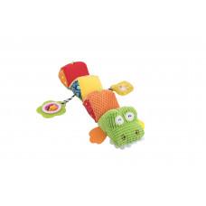 "Мягкая игрушка-гусеница ""Крокодил"" Baby team, 4+, арт. 8534"