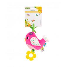 """Іграшка-підвіска музична """"Пташка"""" Baby team, 4+, арт. 8543 (рожева)"""
