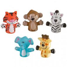 Набор игрушек на пальцы «Веселая детвора», 5 шт., Baby team, 6+, арт. 8700  (сафари)