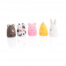 Набор игрушек на пальцы «Веселая детвора», 5 шт., Baby team, 6+, арт. 8700  (ферма)