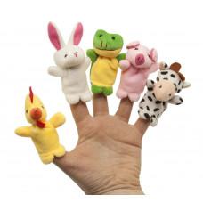 Набор игрушек на пальцы «Веселые пушистики», 5 шт., Baby team, 12+, арт. 8710