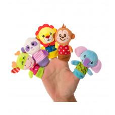 Набор игрушек на пальцы «Веселые зверушки», 5 шт., Baby team, 6+, арт. 8715