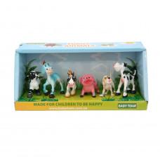 "Набір іграшок-фігурок ""Ферма"" 6 шт, Baby team, 36+, арт. 8831"