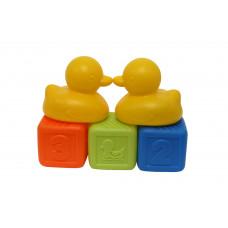 """Набор игрушек """"Кубики и утки"""", 5 элементов Baby team, 12+, арт. 8851 (желтый)"""