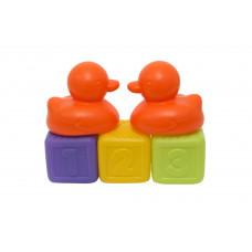 """Набор игрушек """"Кубики и утки"""", 5 элементов Baby team, 12+, арт. 8851 (оранжевый)"""