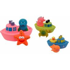 """Набір іграшок для ванни """"Корабель друзів"""" Baby team, 10+, арт. 9000 (ПОШКОДЖЕНА УПАКОВКА)"""