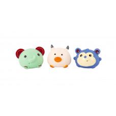 """Набор игрушек для ванны """"Забавные зверушки"""", 3 шт. Baby team, 6+, арт. 9022 (набор с синей обезьянкой)"""