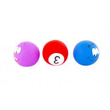 """Набор игрушек для ванны """"Смайлики"""", 3 шт. Baby team, 6+, арт. 9023 (набор с темными мячиками)"""