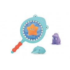 Набор игрушек для ванны с сачком Baby team, 6+, арт. 9027