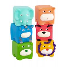 """Набор игрушек для ванны """"Кубики-зверята"""", 6 шт Baby team, 6+, арт. 9050 (набор со слоником)"""
