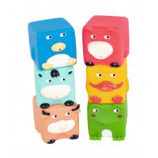 """Набор игрушек для ванны """"Кубики-зверята"""", 6 шт Baby team, 6+, арт. 9050 (набор с утенком)"""